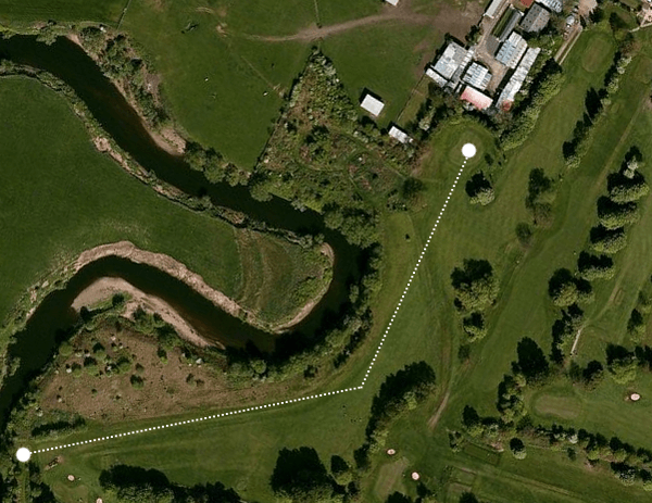flixton course aerial photo